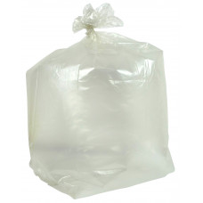 Clear Plastic Compactor Bag - extra heavy duty - box of 100 bags
