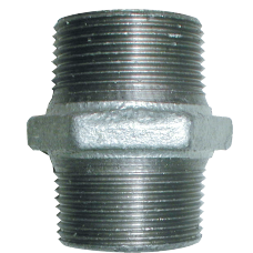 "Galvanised maleable iron ½"" Male Threaded Coupling"