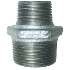 "Galvanised maleable iron 1-¾"" Male Threaded Reducing Nipple"