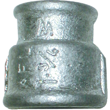 "Galvanised maleable iron 1-¾"" Female Threaded Reducing Socket"