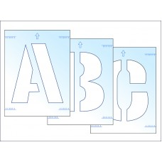 Polyester Stencil Kit, Letters A - Z, 300mm