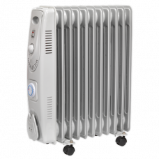 Sealey Oil Filled Radiator 2500W/230V 11 Element with Timer
