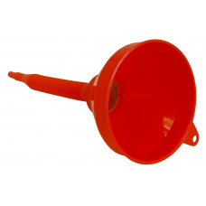 "Plastic Funnel with Strainer - 6""/150mm"