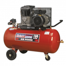 Sealey Belt Driven Wheeled Air Compressor, 3hp