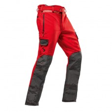 Pfanner Arborist Type C Chainsaw Trousers Red