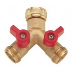 2-Way Tap Brass Threaded Connector