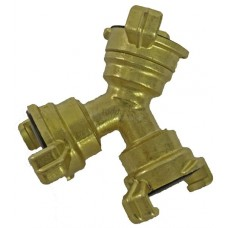 Y-Piece Brass Snap Coupling