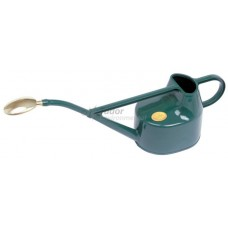 Haws Watering Can - green plastic, 5 ltr