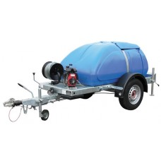 Trailer Mounted Watering Unit with Petrol Engine, 250 gallon + accessories