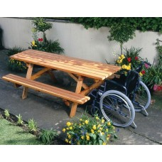 Cotswold Plus Picnic Table with wheelchair access