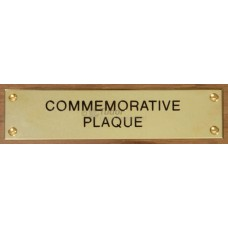 Brass Plaque for Bench Seats