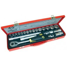 Ceka 22pc Socket Set ½ drive metric
