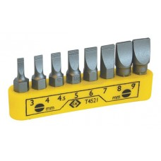 CeKa 8pc Screwdriver Bit Set - slotted