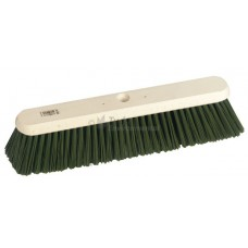 "Platform Broom - 18"" stiff green PVC filled - head only"