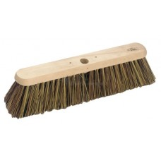 "Platform Broom -  18"" stiff Broom/Grass mix filled"