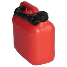Plastic Fuel Can, 5 ltr size, Red