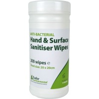 Tudor Anti-Bac Sanitising Hand Wipes, tub of 200