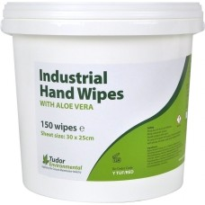 Tudor Industrial Hand Wipes, tub of 150