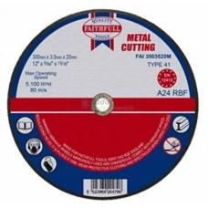 Faithfull Contract Disc Wheel for Metal - 300 x 3.5 x 20mm