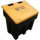 Salt and Grit Bin, Yellow Lid, Black Base, 200 ltr