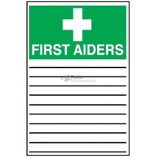 Sign 200x300mm, First Aiders