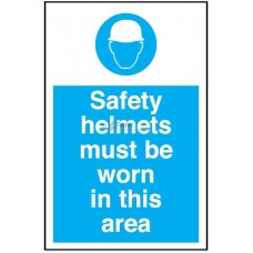 Sign 400x600mm, Safety Helmets