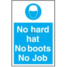 Sign 200x300mm, Hard Hats/Boots