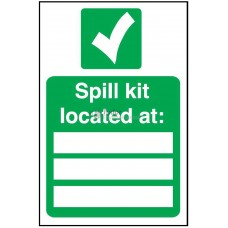 Sign 200x300mm, Spill Kit Location