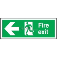 Sign 400x150mm, Fire Exit, arrow left