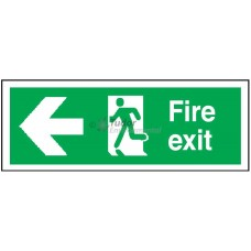 Sign 600x200mm, Fire Exit, arrow left