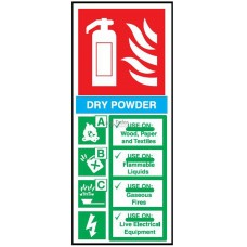 Sign 82x202mm, Fire Extinguisher - Dry Powder