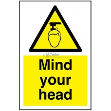 Sign 200x300mm, Mind your Head
