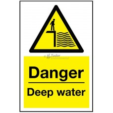 Sign 200x300mm, Danger - Deep Water