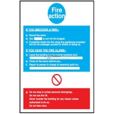 Sign 200x300mm, Fire Action Notice
