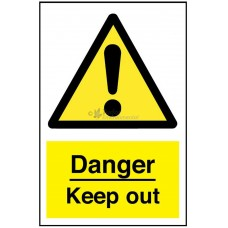 Sign 200x300mm, Danger - Keep Out