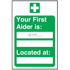 Sign 200x300mm, First Aider Location