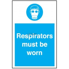 Sign 200x300mm, Respirators