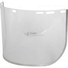 Replacement Visor clear poly style, metal edged