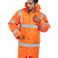 Hi-Vis Traffic Safety Jacket, orange coloured