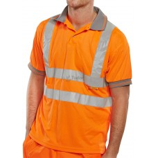Hi-Vis Short Sleeve EN ISO 20471 Polo Shirt, orange