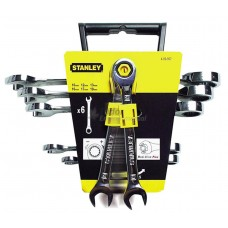 Stanley 6pc Ratcheting Combination Spanner Set, fixed head version